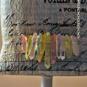 Dyed Quartz Bar Necklace